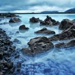 Le Blue Lagoon est un lieu surréaliste à quelques km de Reykjavik. Islande Iceland.