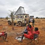 Kenya, bivouac chez les Massais. HZJ78 Toyota Photographie ©Patrick Galibert