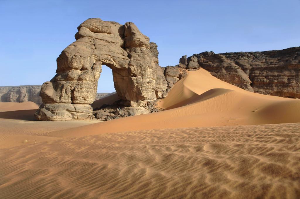 La grande Arche. Acacus Libye