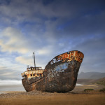 Wreck on the beach, Sidi Ifni Morocco. Patrick Galibert