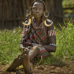 Mursi tribe girl Patrick Galibert