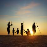 Dassanech tribes sunrise, Ethiopia Patrick GALIBERT               ;Patrick Galibert