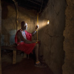 Maasai chief in his wood house Patrick GALIBERT;Patrick Galibert