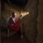 Maasai chief in his wood house Patrick GALIBERT;Patrick Galibert